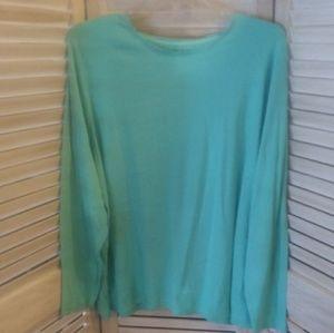 🆕 Croft & Barrow classic long sleeve t-shirt Aqua